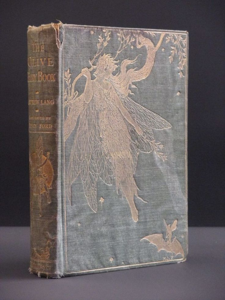 ANDREW LANG The Olive Fairy Book 1907 1st Edition Children's Fairy Tales/Fairies