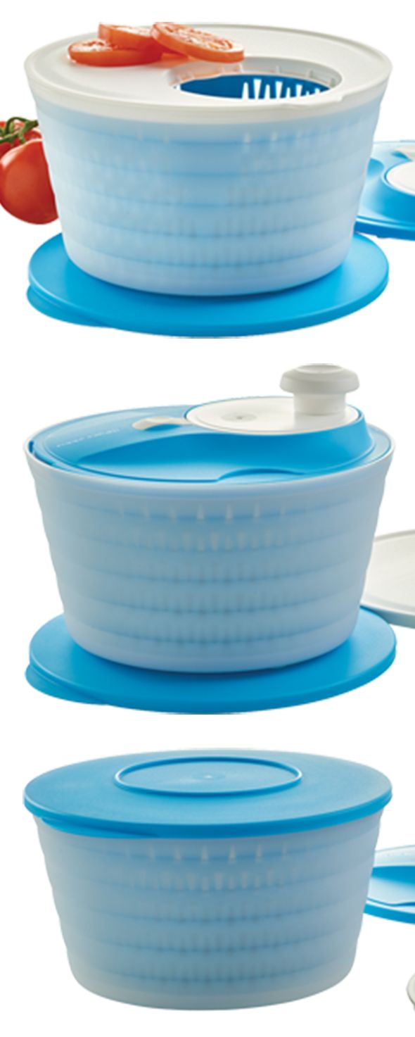 Salad Spinner with Cutting Board. Four products with five uses- with this you can rinse, strain, chop, spin, and serve. Clean and spin dry your favorite summer fruits and veggies after removing them from your FridgeSmart® container. Available through July 8, 2016 only.