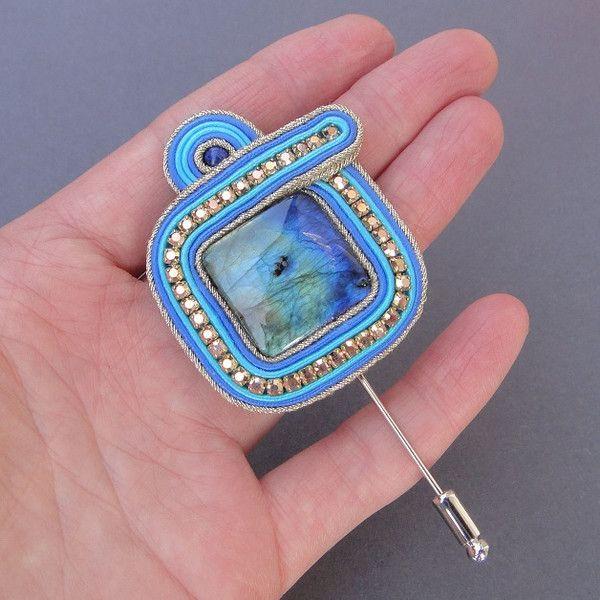 Niebo przed burzą - brosza sutasz w Blue Butterfly na DaWanda.com