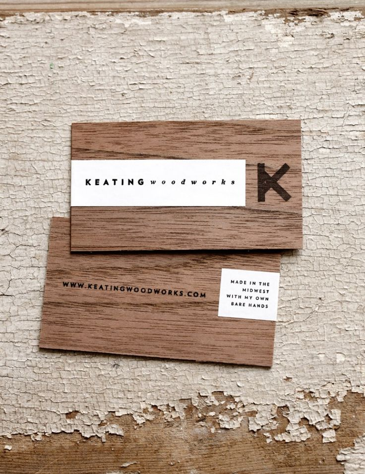 Keating woodworks wood business card creativeideas - Business name for interior design company ...