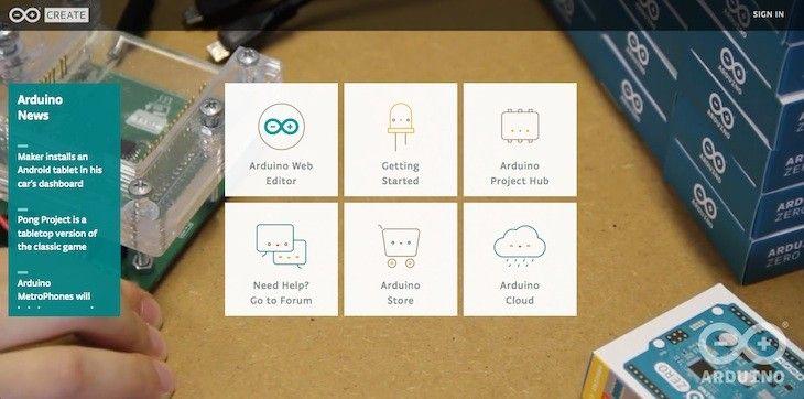 Sabías que Arduino Create, una plataforma para crear y descubrir proyectos basados en Arduino