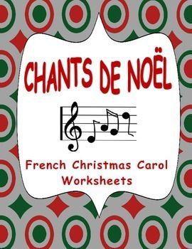 Fiches pour les Chants de Noël. Révisez les titres des chants populaires et traditionnels avec ces activités.