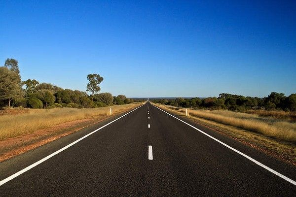 Australia has some long, straight roads! This is the Barrier Highway west of Cobar in New South Wales [Photo: Kevin Black]