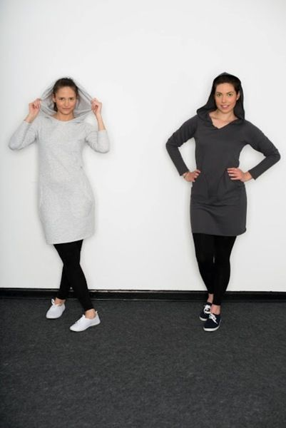 Sukienka z Dzianiny dresowej z kapturem, 38/40 w Sumisura producent  na DaWanda.com
