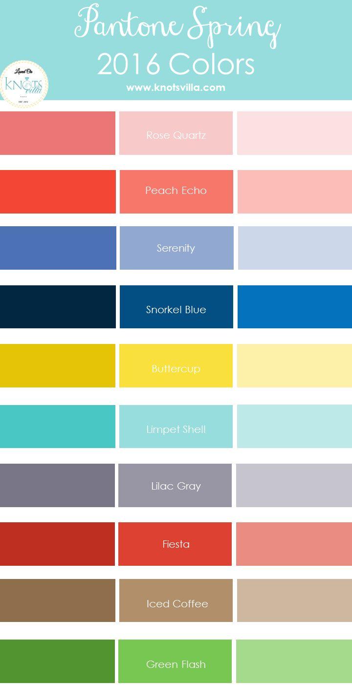Pantone Spring 2016 Colors - KnotsVilla