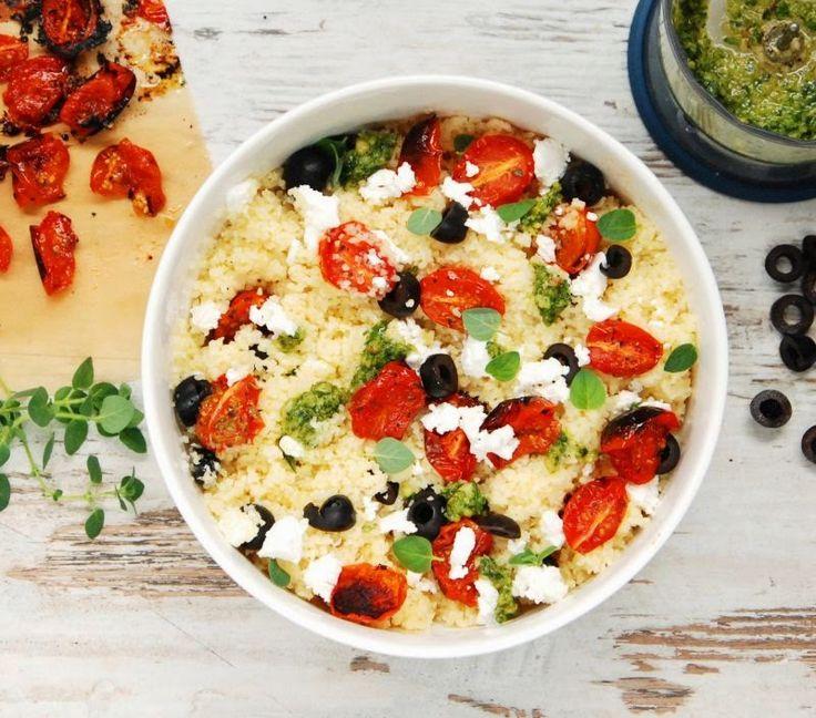Sałatka z kaszą bulgur i pomidorkami