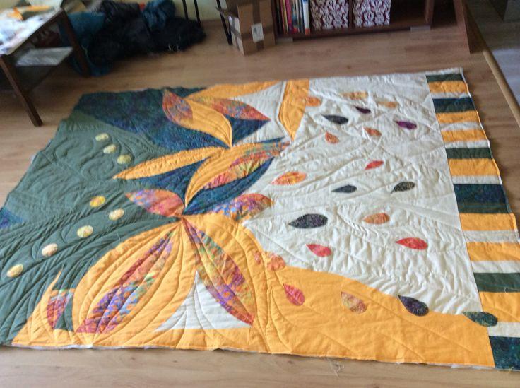 my first big modern quilt in progress