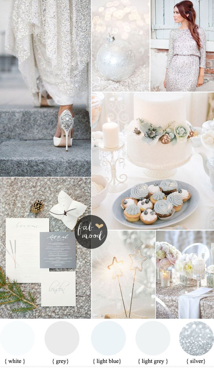 Silver and White Winter wedding for a glamours winter wedding   fabmood.com