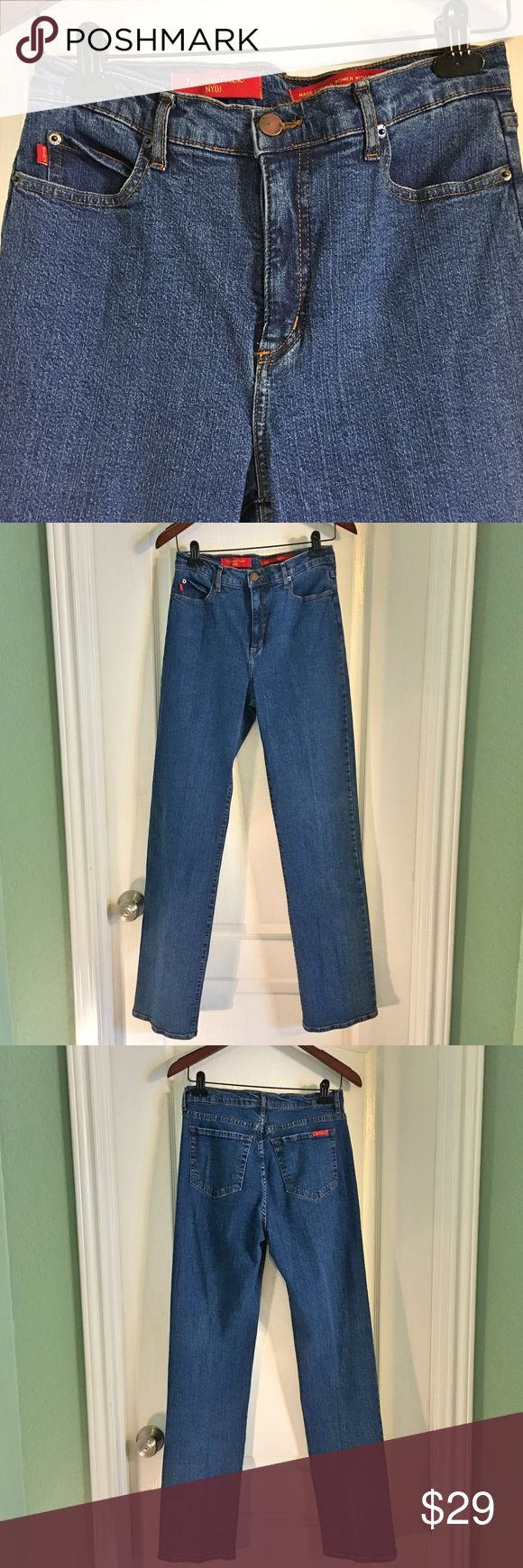 """NYDJ ~ Not Your Daughters Jeans NYDJ ~ Not Your Daughters Jeans ~ Tummy Tuck ~ Amazing slimming fit ~ Size 8 ~ Made in the USA ~ 94% Cotton & 6% Spandex ~ Waist is approximately 14"""" ~ Inseam is approximately 33"""" ~ Some wear on inside elastic area as shown in last pictures ~ Great Jeans! NYDJ Jeans"""