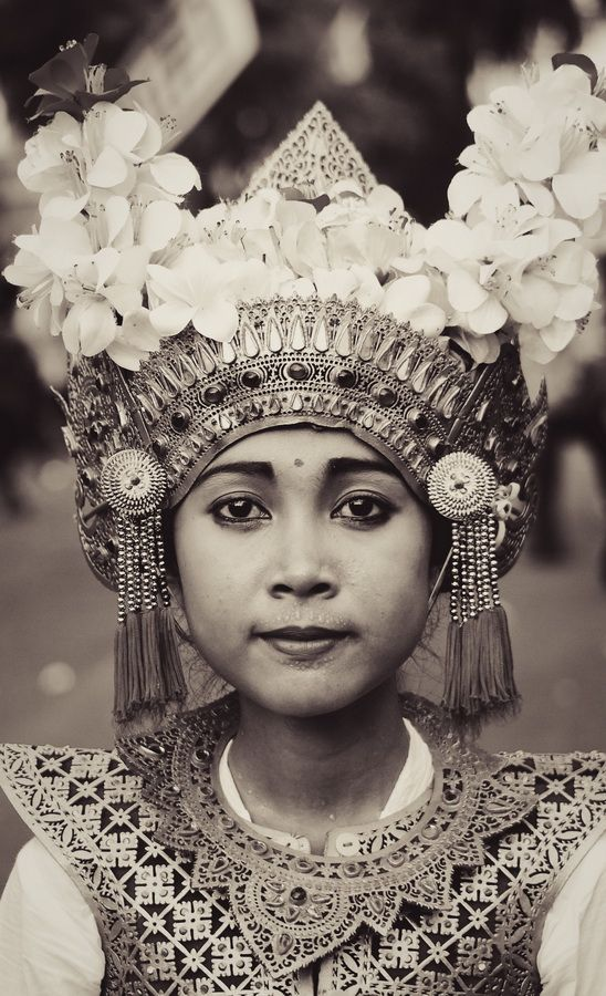 portrait bhisama dancer from tabanan, bali, indonesia