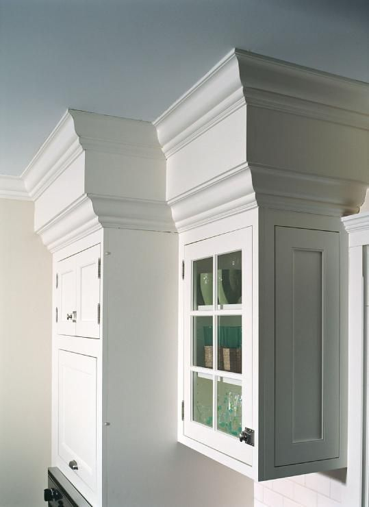 Hide The Ugly Popcorn Covered Soffets In My Kitchen...molding To The  Ceiling · Kitchen SoffitPainted Kitchen CabinetsKitchen ...
