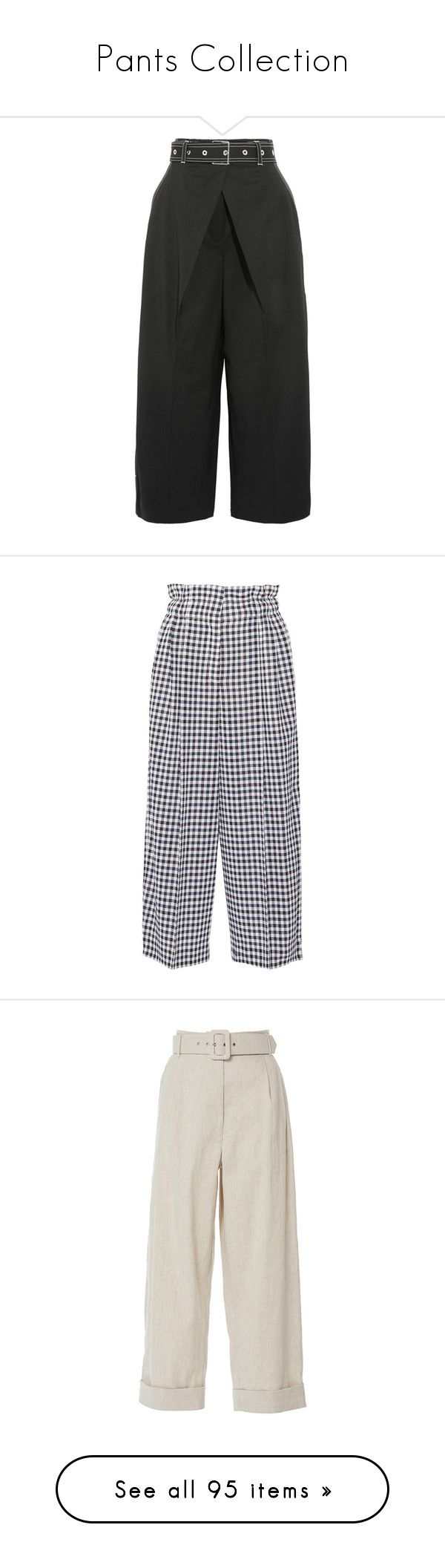 """""""Pants Collection"""" by tamara-40 ❤ liked on Polyvore featuring pants, capris, trousers, high waisted pleated pants, twill pants, pleated wide leg trousers, pleated wide leg pants, cropped pants, bottoms and wide-leg pants"""