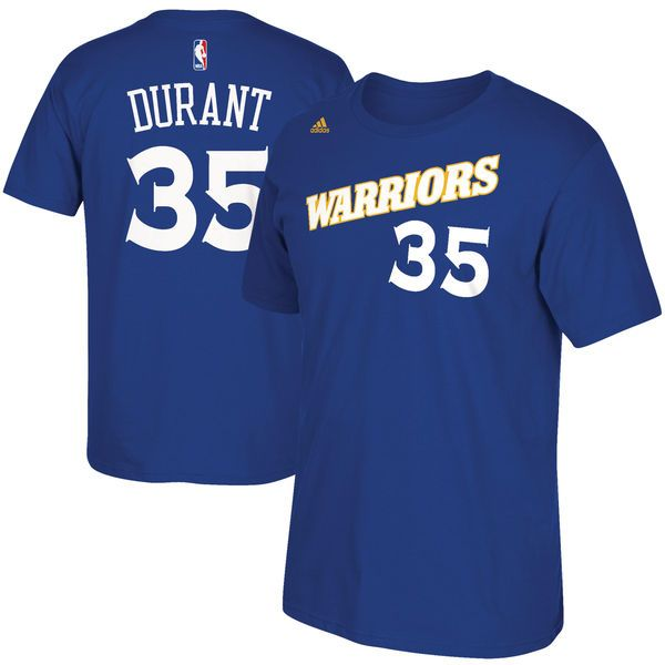 Kevin Durant Golden State Warriors adidas Stretch Crossover Name & Number T-Shirt - Royal