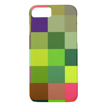 Colorful squares pattern iPhone 7 case - click to get yours right now!