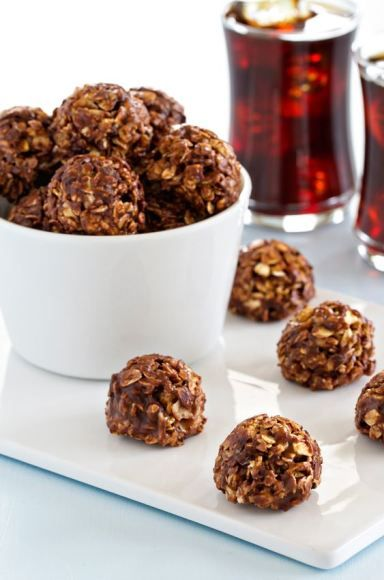 Chocolate Almond Butter Granola Bites are easy to make and ...