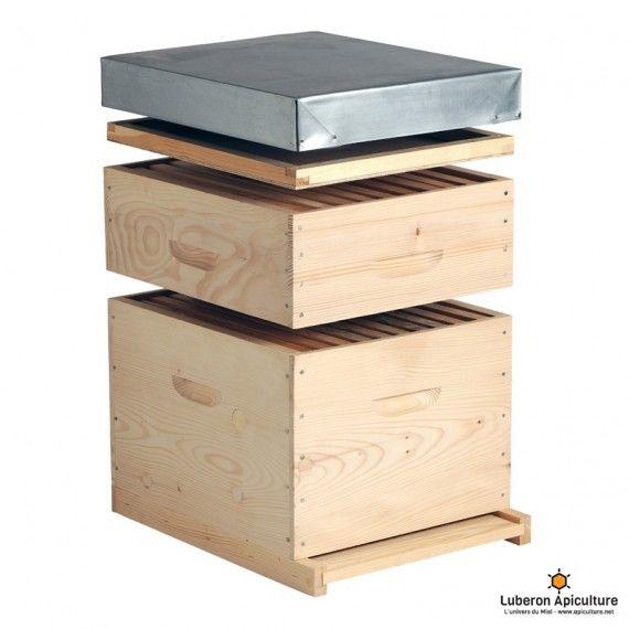 Ruche Dadant 10 cadres avec hausse (fond bois) - Achat/Vente - Luberon Apiculture