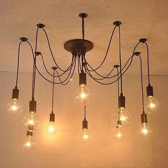 New Edison Retro Spider Chandelier Lighting Ceiling by OrenShop could ...