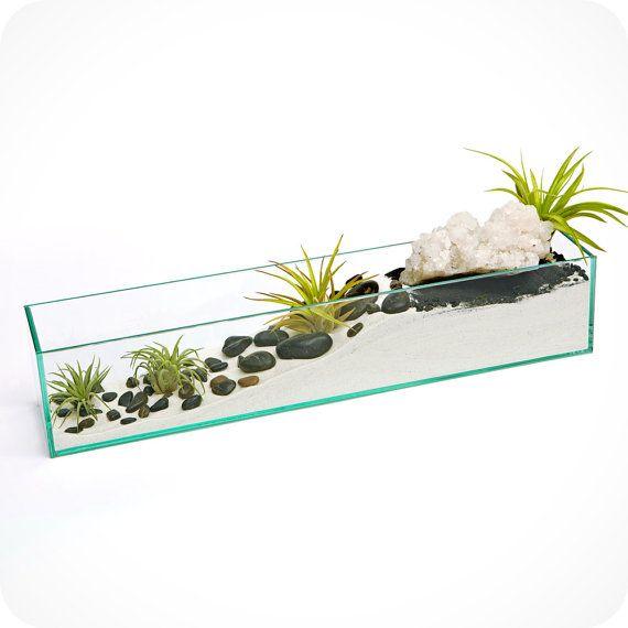 CRYSTAL WAVE terrarium housewarming gift, hostess gift, easter gift, zen garden,air plant terrarium,good karma, on Etsy, $350.00