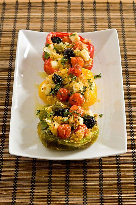 Papriky plněné kuskusem, fetou a olivami…