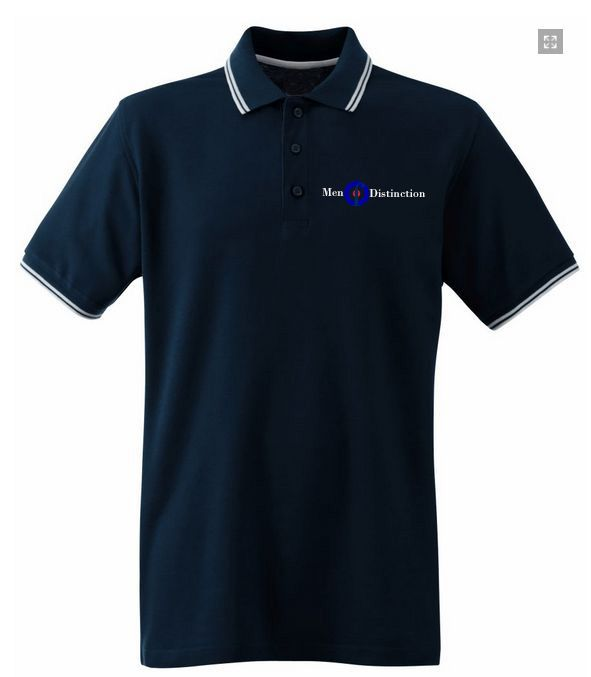 Men Of Distinction  Embroided Polo Shirt Blue