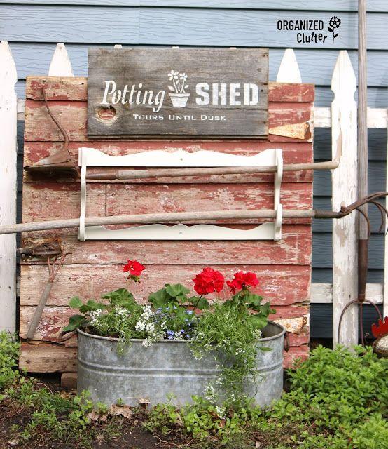Garden Junk Ideas Galore 2014 Round Up: 569 Best Junk Gardening Images On Pinterest