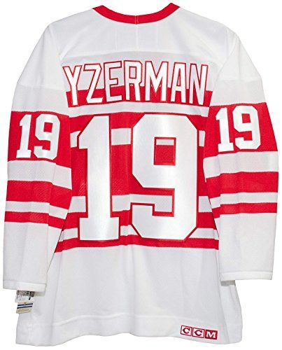 Steve Yzerman Detroit Red Wings 1992 Alternate CCM Jersey Sewn Tackle Twill Name and Number – Detroit Sports Outlet