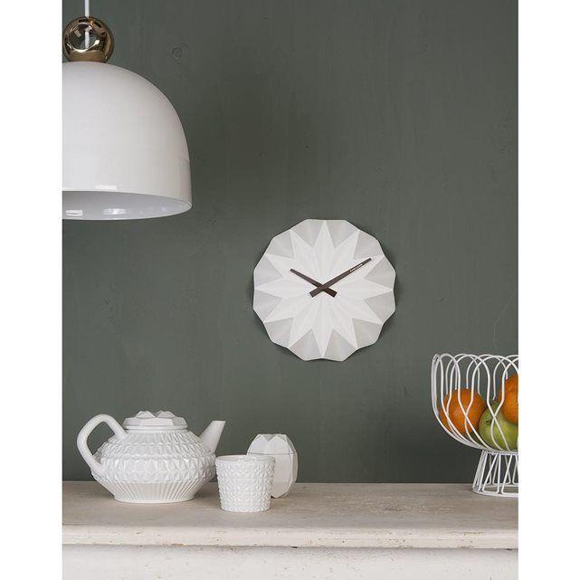 Horloge Karlsson design Origami Ceramique ATYLIA