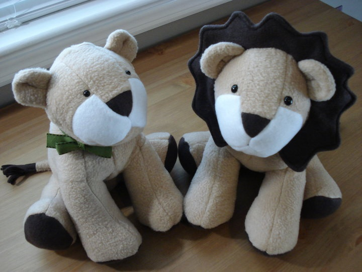 Lion Toy Sewing Pattern Plush Pdf Pattern Sewing