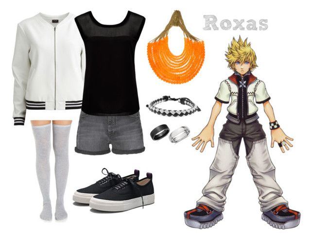 """Kingdom Hearts Roxas Inspired Outfit"" by rfacklam ❤ liked on Polyvore featuring VILA, Calvin Klein Jeans, Eytys, Forever New, Rosantica, Moise, Blue Nile, KingdomHearts, Roxas and kh"