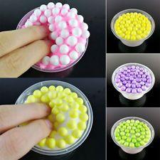100ml Rainbow Fluffy Crunchy Foam Beads Kids Anti-stress Toys Slime Relax 8Color