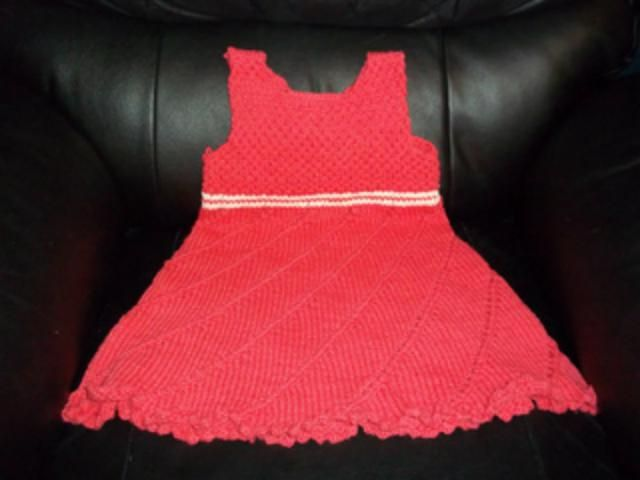 Use this free knitting pattern to make a little girl's sundress. This little girl's sundress is made in one piece, in the round, from the bottom up.: Knit the Skirt