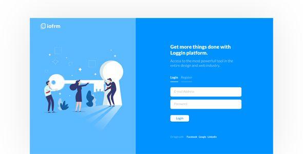 Iofrm Login And Register Form Templates Login Iofrm Register Templates Web Template Design Login Page Design Web Design