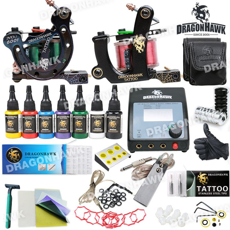 Best 25 tattoo machines for sale ideas on pinterest embroidery dragonhawk tattoo kit 2 machine with bag dual lcd power needles diy 281 solutioingenieria Gallery