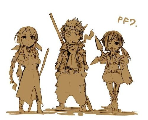 Leon , Yuffie and Aeris coloring by Serah-Lightning on ...   Yuffie And Aerith