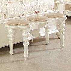 Najarian Furniture Paris Bedside Upholstered Bedroom Bench