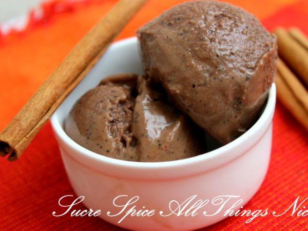 Spiced Chocolate Ice Cream Recipe — Dishmaps
