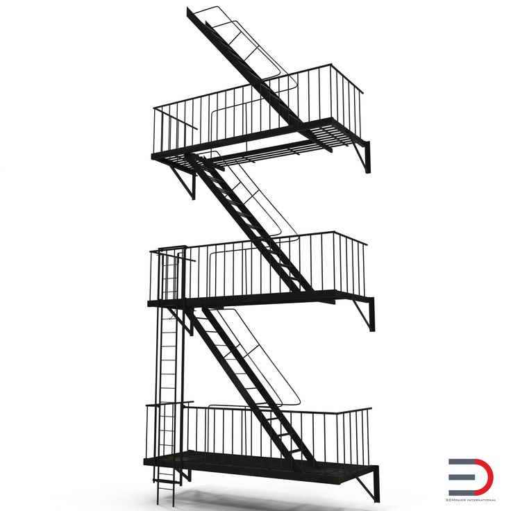 Fire Escape Stairs 3d model #FireEscape #Stairs #3d #model http://www.turbosquid.com/3d-models/escape-stairs-3d-model/963587?referral=3d_molier-International