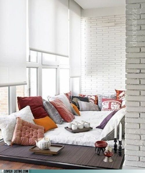 The Bed-Room: Ideas, Spaces, Cozy Nooks, Floors, Lounges, Reading Nooks, House, Places, Pillows