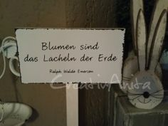 Schild - Tafel - Gartenstecker - Spruchschild