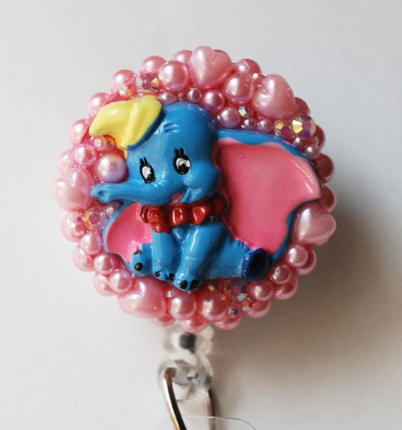Dumbo Baby Mine ID Badge Reel RN ID Badge Holder by ZipperedHeart