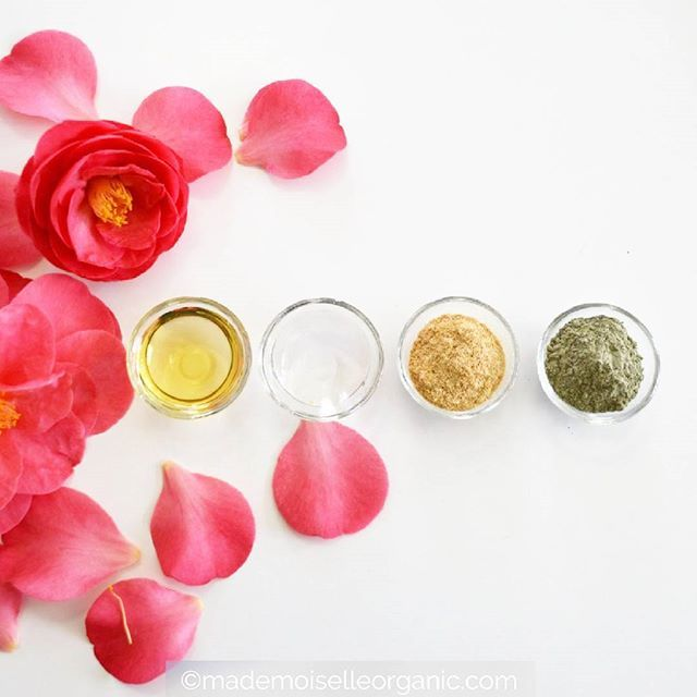 4 of my favorite ingredients for DIY skincare: vegetable oil, hydrosol, exfoliating powder and clay! All 100% natural and 200% good for the skin! If you are interested in learning how to make your own skincare as well, check out my online courses here: http://mademoiselle-organic-academy.teachable.com/ There's even a free course to get started! #MlleDIY #course #learnonline #learn #DIY #DIYbeauty #cream #beauty #recipe #DIYrecipe #ecofriendly #greenbeauty #beautiful #organicbeauty…