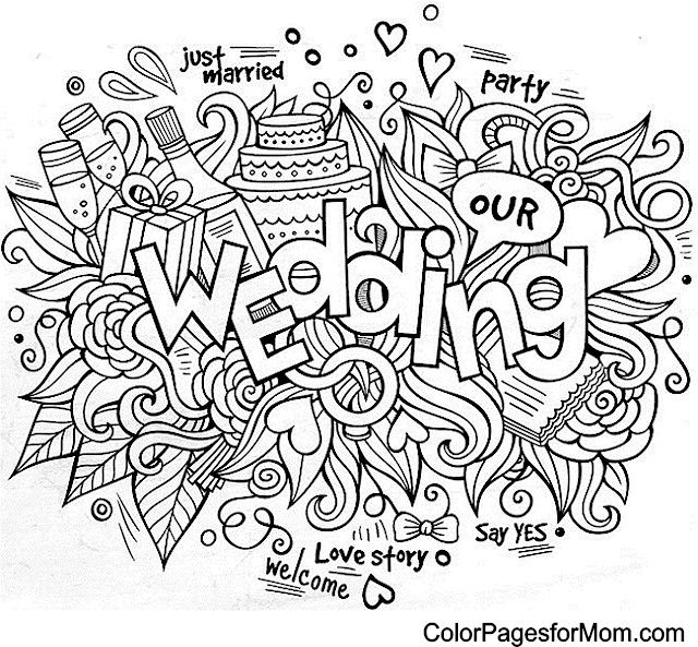 doodle wedding doodle boda Wedding coloring pages Kids