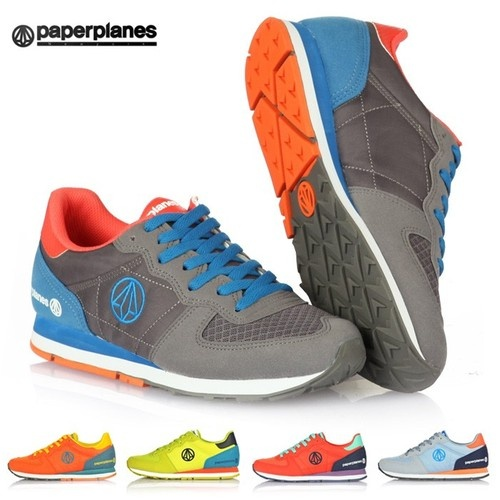 New Paperplanes Mens Walking Shoes Aathletic Casual blue gray Fashion Sneakers $32.98