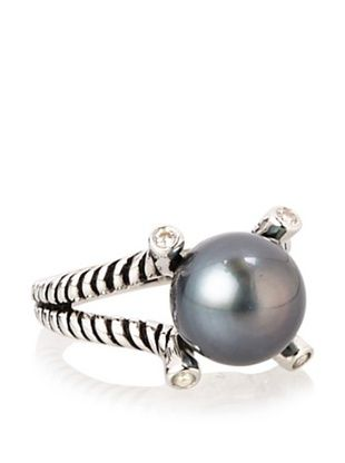 70% OFF Radiance Pearl 10mm Tahitian South Sea Pearl & Crystal Ring