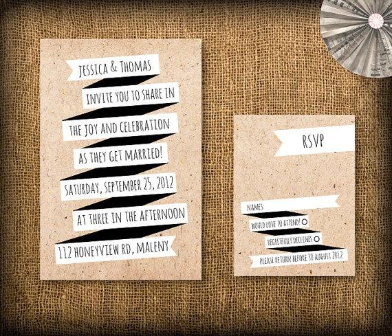 25 best Wedding invitations images on Pinterest Retro weddings