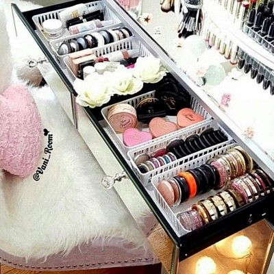 Organise your growing makeup collection with simple, cheap but effective baskets