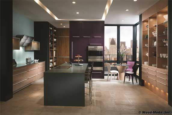 A purple kitchen, love it!!!: Dreams Kitchens, Revival Kitchens, Amazing Kitchens, Modern Kitchens, Kitchens Design Com, Islands Kitchens, Bath Kitchens, Bright Colors, Urban Revival