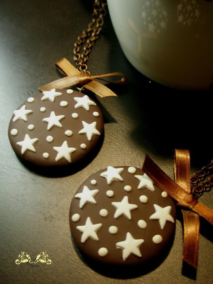 collane biscotto #handmade #fimo #polymerclay #julesbijoux