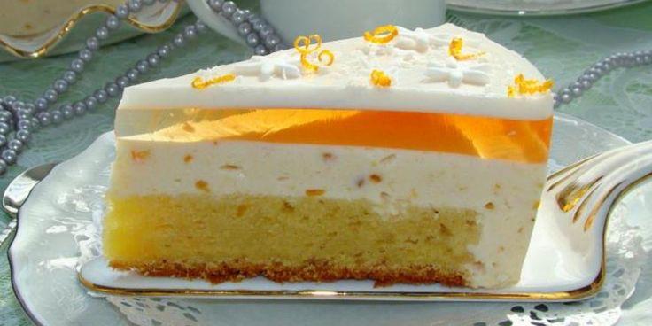 Апельсиново-йогуртовый пирог