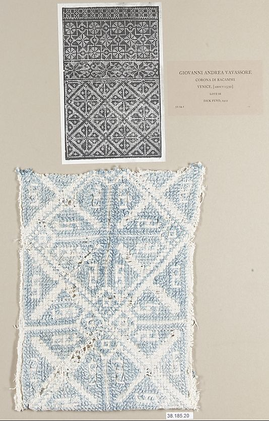 Piece  Date: 16th century  Culture: Italian or German  Medium: Linen Dimensions: L. 10 1/2 x W. 6 3/8 inches (26.7 x 16.2 cm)  Classification: Textiles-Embroidered  Accession Number: 38.185.20